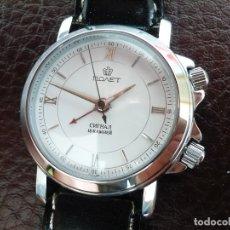Relojes automáticos: POLJOT - DESPERTADOR MECÁNICO ELEGANTE - SERIE NUMERADA Nº 431 - NEW OLD STOCK. Lote 153207701