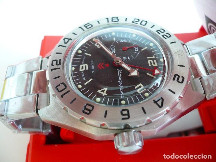 Relojes automáticos: VOSTOK -ANFIBIO-GREENWICH SUBMARINER RUSIA EXTRA LUJO 31 RUBIES, AUTOMÁTICO CON ESTUCHE E INSTRUCCI - Foto 2 - 124648376