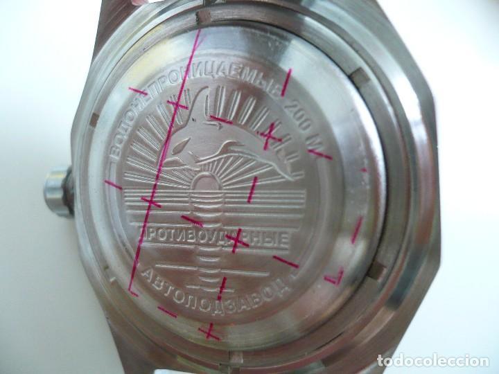 Relojes automáticos: VOSTOK -ANFIBIO-GREENWICH SUBMARINER RUSIA EXTRA LUJO 31 RUBIES, AUTOMÁTICO CON ESTUCHE E INSTRUCCI - Foto 3 - 124648376