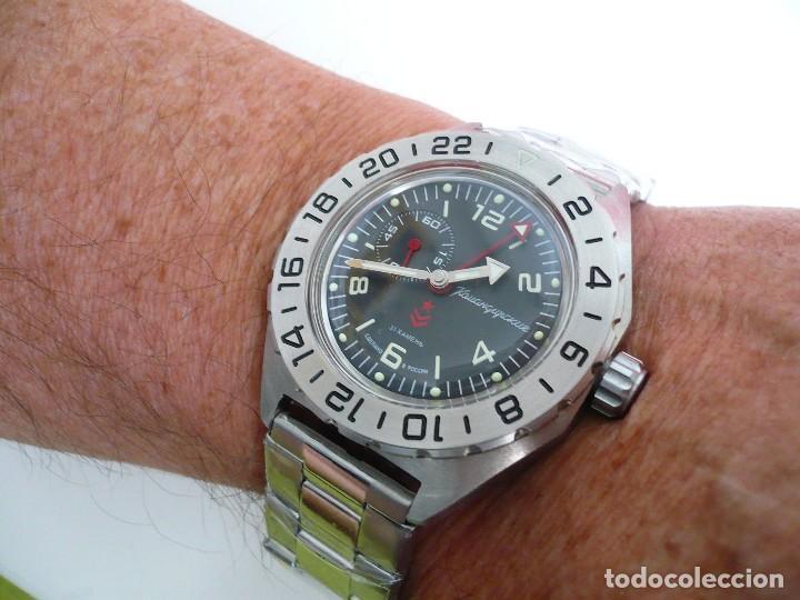 Relojes automáticos: VOSTOK -ANFIBIO-GREENWICH SUBMARINER RUSIA EXTRA LUJO 31 RUBIES, AUTOMÁTICO CON ESTUCHE E INSTRUCCI - Foto 4 - 124648376