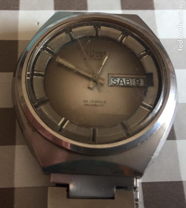 Relojes automáticos: RELOJ AUTOMATICO TITAN TP-073 25 Jewels Incabloc - Foto 8 - 121966951