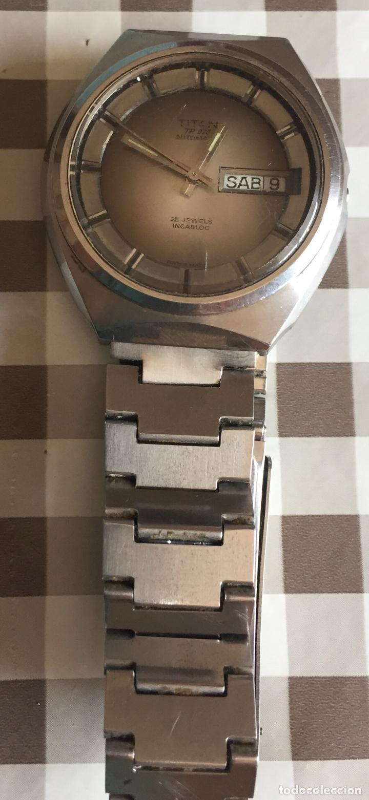 Relojes automáticos: RELOJ AUTOMATICO TITAN TP-073 25 Jewels Incabloc - Foto 9 - 121966951