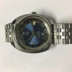 Relojes automáticos: RELOJ AUTOMATICO LOREM 25 RUBIS FUNCIONANDO BONITA ESFERA AZUL Y REDONDEL METALICO. Lote 121967783