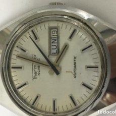 Relojes automáticos: RELOJ THERMIDOR AUTOMATICO FUNCIONA ,CORREA DE PIEL DOBLE DIAL A LAS 3. Lote 122003107