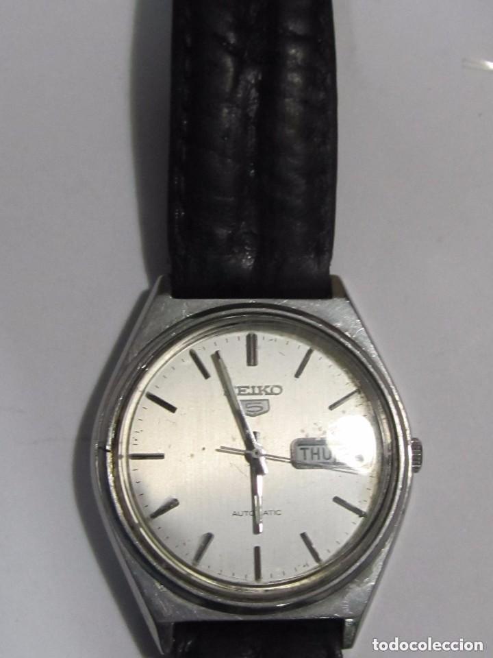 RELOJ AUTOMATICO SEIKO N 5 CORREA DE PIEL (Relojes - Relojes Automáticos)
