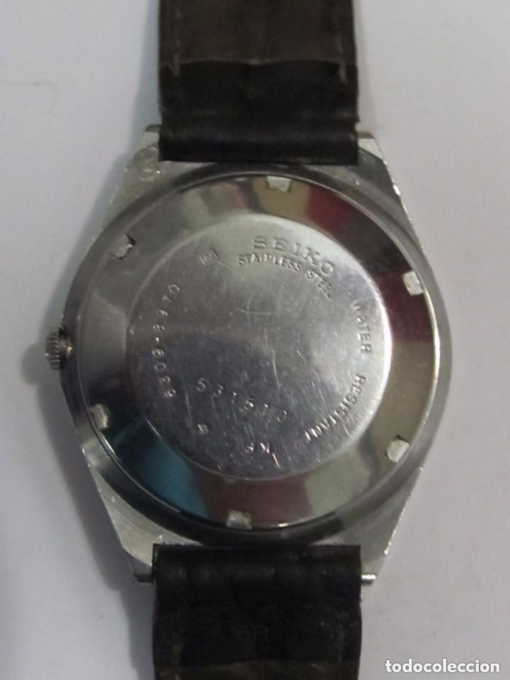 Relojes automáticos: RELOJ AUTOMATICO SEIKO N 5 CORREA DE PIEL - Foto 4 - 122004611