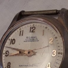 Relojes automáticos: ANTIGUO RELOJ ROAHL 17 RUBIS WATERPROOF ANTIMAGNETIC MADE SWISS. Lote 122301015