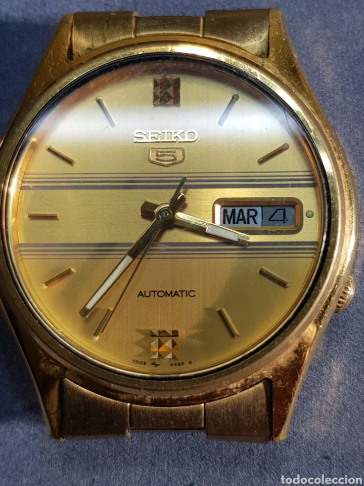 RELOJ SEIKO 5 AUTOMATIC 7009 449R R CHAPADO EN ORO (Relojes - Relojes Automáticos)