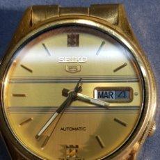 Relojes automáticos: RELOJ SEIKO 5 AUTOMATIC 7009 449R R CHAPADO EN ORO. Lote 122910063