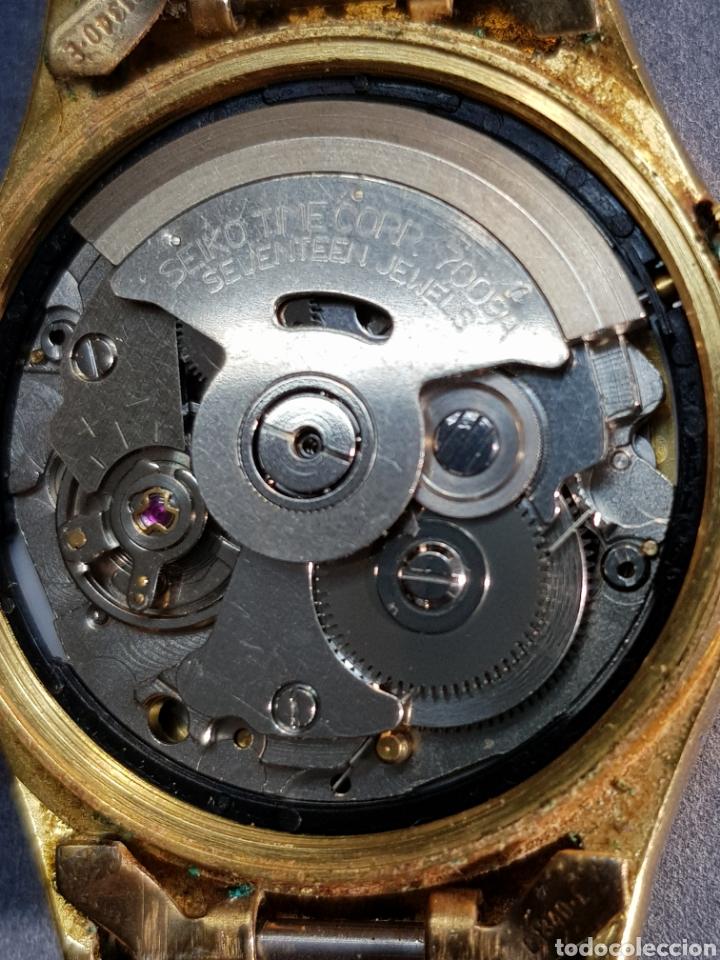 Relojes automáticos: Reloj Seiko 5 Automatic 7009 449R R chapado en oro - Foto 3 - 122910063