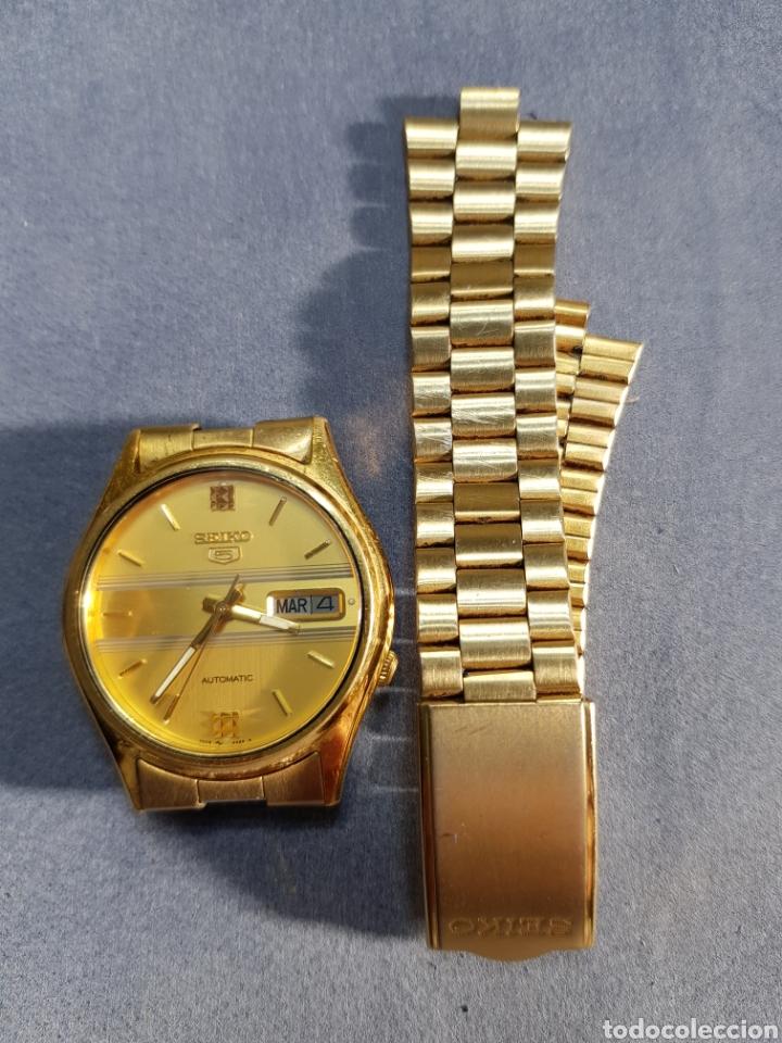 Relojes automáticos: Reloj Seiko 5 Automatic 7009 449R R chapado en oro - Foto 4 - 122910063