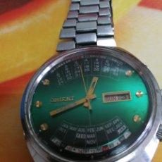 Relojes automáticos: ANTIGUO RELOJ ORIENT AUTOMATICO CALENDARIO PERPETUO 21 RUBIS FUNCIONANDO. Lote 123025519