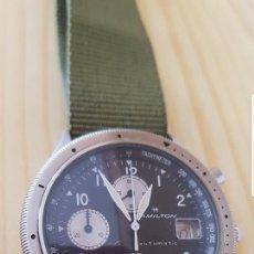 Relojes automáticos: RELOJ HAMILTON KHAKI AÑOS 80 CON CRONOGRAFH Y TACHYMETER CASI A ESTRENAR FUNCIONA ALTA COLECION. Lote 125732943