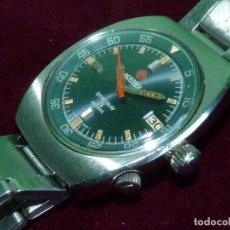Relojes automáticos: DIFICIL RELOJ ROAMER STINGRAY S ROTODATE 1968 SCUBA DIVER SWISS DOBLE CORONA 200 MTS AUTOMATICO. Lote 126065359