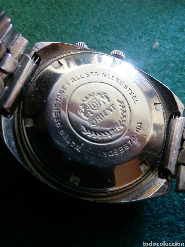 Relojes automáticos: Orient multiyear, esfera personalizada automatic date-day reloj muy cotizado y escado - Foto 2 - 194870075