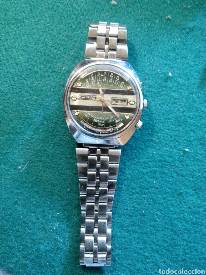 Relojes automáticos: Orient multiyear, esfera personalizada automatic date-day reloj muy cotizado y escado - Foto 3 - 194870075