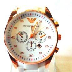 Relojes automáticos: RELOJ AUTOMATICO ARMANI BLANCO. Lote 127105495