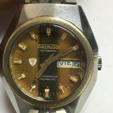 Relojes automáticos: RELOJ THERMIDOR AUTOMATICO FUNCIONA ,ORIGINAL CARATULA DOBLE VIAL A LAS 3 . Lote 127640811