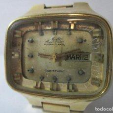 Relojes automáticos: RELOJ PARA RESTAURAR MIDO AUTOMATICO ANTIGUO COLECCION HOMBRE VINTAGE CAJA GRANDE TV CHAPADO ORO. Lote 127659423