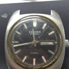 Relojes automáticos: RELOJ PARA PIEZAS MARCA CITIZEN AUTOMÁTIC 17 JEWELS. Lote 127875386