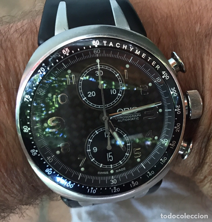 Relojes automáticos: Reloj Oris. Cronómetro Automatico de Acero. Edición Limitada a 3.000 unidades - Foto 4 - 128328246