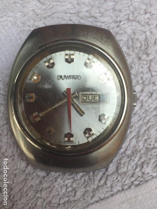ANTIGUO RELOJ DUWARD AUTOMATICO EN ACERO GRAN TAMAÑO FUNCIONANDO,BARATO (Relojes - Relojes Automáticos)