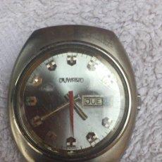 Relojes automáticos: ANTIGUO RELOJ DUWARD AUTOMATICO EN ACERO GRAN TAMAÑO FUNCIONANDO,BARATO. Lote 129075087