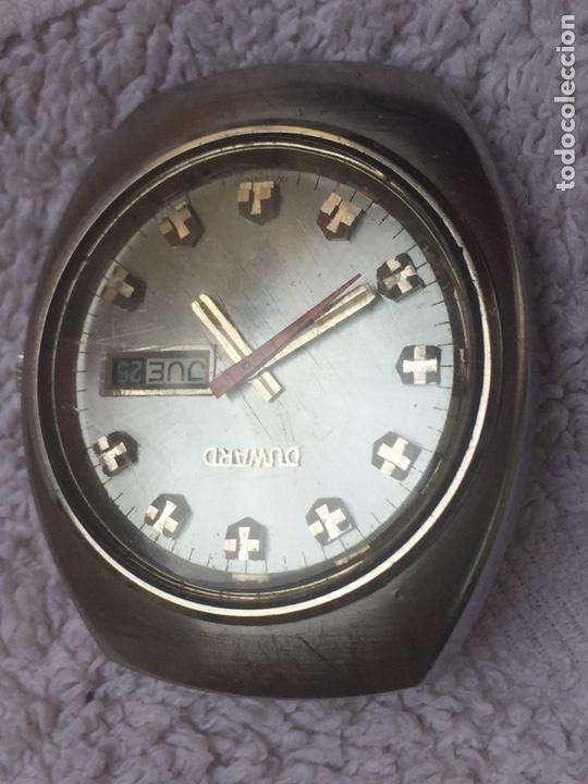 Relojes automáticos: ANTIGUO RELOJ DUWARD AUTOMATICO EN ACERO GRAN TAMAÑO FUNCIONANDO,BARATO - Foto 3 - 129075087