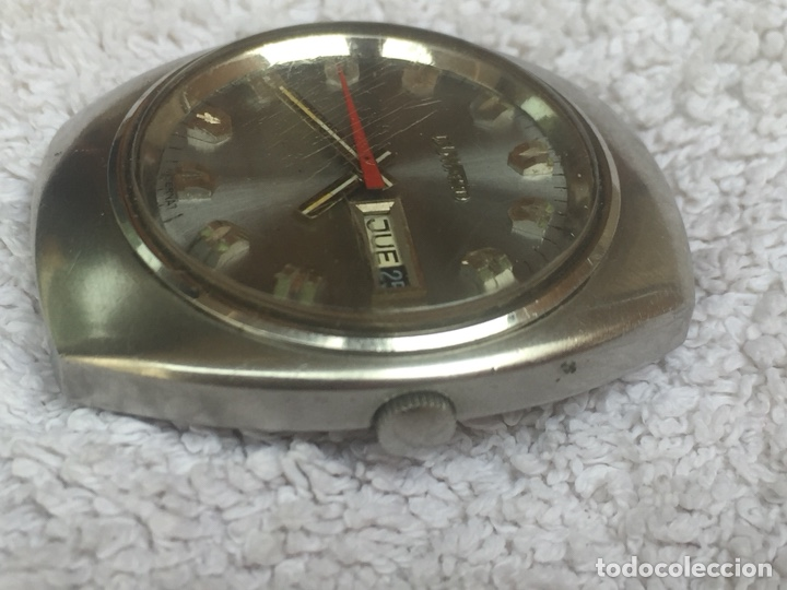 Relojes automáticos: ANTIGUO RELOJ DUWARD AUTOMATICO EN ACERO GRAN TAMAÑO FUNCIONANDO,BARATO - Foto 4 - 129075087
