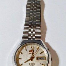 Relojes automáticos: ORIENT AUTOMATICO DE HOMBRE 37X40 M/M VINTAGE, DIA,SEMANA,TODO DE ACERO.. Lote 130572814