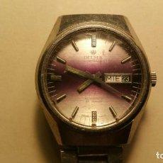 Relojes automáticos: RELOJ DELMA SUIZO AUTOMATICO EN FUNCIONAMIENTO. Lote 130586706