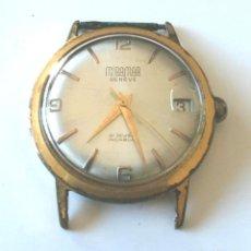 Relojes automáticos: RELOJ MIRAMAR GENEVE, CALENDARIO, FUNCIONA, MED. 34 MM SIN CONTAR CORONA. Lote 131676094