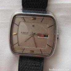 Relojes automáticos: RELOJ AUTOMATICO VINTAGE EDOX ACERO. Lote 132662386