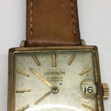 Relojes automáticos: RELOJ VICKRON AUTOMÁTICO CAJA CHAPADA FORMA CUADRADA EN FUNCIONAMIENTO. Lote 133044149