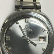 Relojes automáticos: RELOJ TITUS MATIC AUTOMÁTICO 25JEWELS EN ACERÓ COMPLETO CON SU CADENA ORIGINAL. Lote 142775304