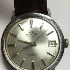 Relojes automáticos: RELOJ ROYCE AUTOMÁTICO CAJA DE ACERO 34MM SIN CONTAR LA CORONA. Lote 133657687