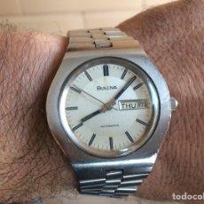 Relojes automáticos: RELOJ AUTOMÁTICO BULOVA ACERO DE LOS AÑOS 70. Lote 133798205