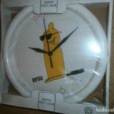 Relojes automáticos: RELOJ DE PARED CONDONES SUECOS RFSU NUEVO DE 25 POR 25. Lote 133924566