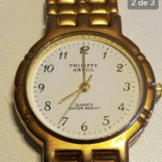 Relojes automáticos: BONITO RELOJ PHILLIPE ARNOL BAÑO DE ORO.WATER RESISTANT.ES MUY LINDO!!. Lote 135740003