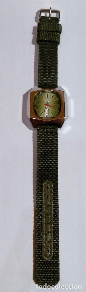 Relojes automáticos: ISCO WATCH AUTOMATICO 25 RUBIS CAL. AS 2066. MEDIDA 42X 36 M/M. DOBLE CALENDARI,BUÉN FUNCIONAMIENTO. - Foto 4 - 135780454