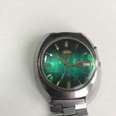 Relojes automáticos: RELOJ ORIENT DE PULSERA AUTOMATICO , FUNCIONANDO , 6A PR . ESFERA VERDE , VINTAGE . Lote 139053910