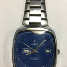 Relojes automáticos: RELOJ ZODIAC SST3600 AUTOMÁTICO EN ACERO COMPLETO TODO ORIGINAL DOBLE DIAL PARA COLECCIONISTAS. Lote 142721278