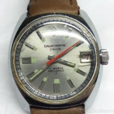 Relojes automáticos: RELOJ AUTOMÁTICO CAUNY PRIMA CAUNYMATIC 17R SWISS - CAJA 27 MM - CON DEFECTO. Lote 139206266