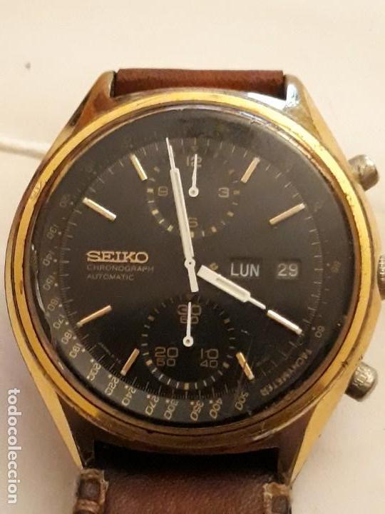 RELOJ DE PULSERA CABALLERO CHRONOGRAPH AUTOMATIC ,SEIKO, MAQUINARIA SEVENTEEN 61388,21 JEWELS, JAPAN (Relojes - Relojes Automáticos)