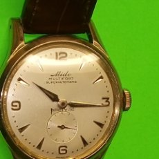 Relojes automáticos: MIDO AUTOMATICO. 1.954/60. (((PLAQ ORO 50 MICRONES)) FUNCIONANDO BIEN. 33 MM. S/C. FOTOS EN DESCRIP.. Lote 128871327