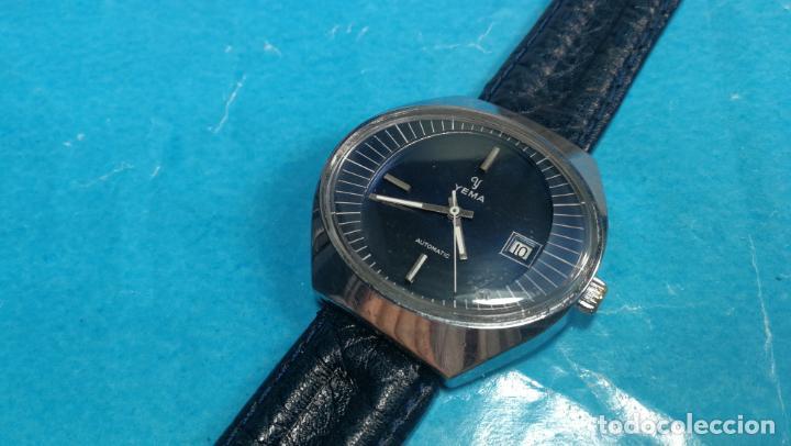 Relojes automáticos: Botito reloj Yema antiguo automático, funciona bien, grande - Foto 5 - 140285570