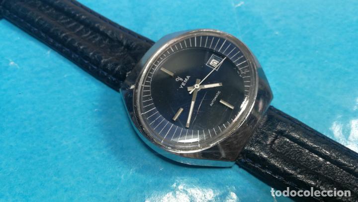 Relojes automáticos: Botito reloj Yema antiguo automático, funciona bien, grande - Foto 6 - 140285570