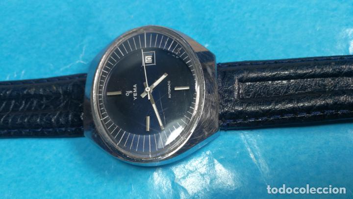 Relojes automáticos: Botito reloj Yema antiguo automático, funciona bien, grande - Foto 7 - 140285570