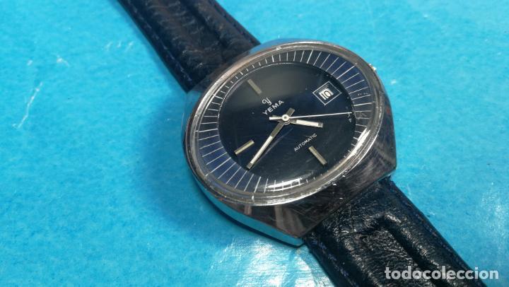 Relojes automáticos: Botito reloj Yema antiguo automático, funciona bien, grande - Foto 8 - 140285570