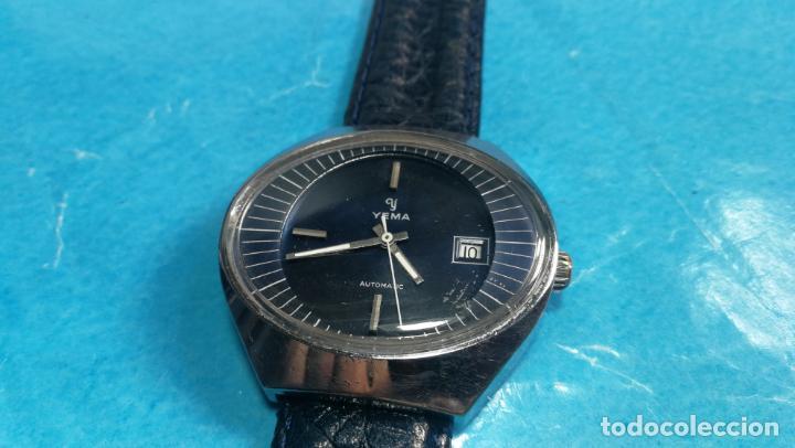 Relojes automáticos: Botito reloj Yema antiguo automático, funciona bien, grande - Foto 9 - 140285570